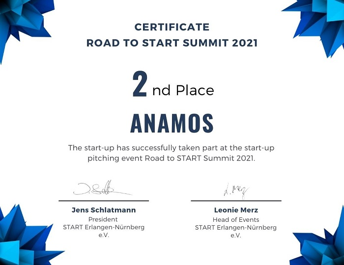 Second place at the Road to START Summit 2021